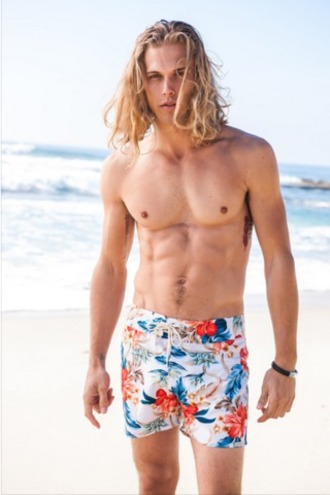 shorts floral surf shorts high end surf shorts mens mens surf shorts mens swimwear sauvage swimwear white surf shorts bikiniluxe
