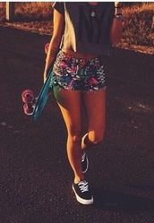 shorts,black,abstrac pattern,cut offs,tribal pattern,colorful,colorful shorts,shoes,stitch up,skater,neon,short shorts,aztec,crazy design,vans,sexy,longboard,new york city,t-shirt,funny,penny board,scateboard,cute,cool,pattern,bohemian,denim shorts,multicolor,bottoms,tight bottom