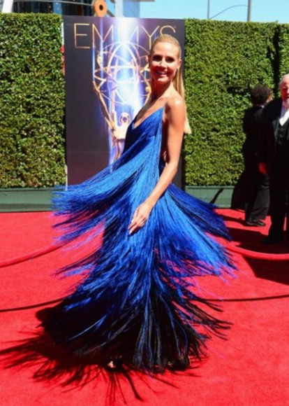 heidi klum dress creative arts emmy awards 2014