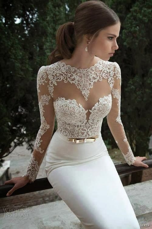 $189 27dress.com custom made Vestidos De Noiva ... | Sexy long sleeve…