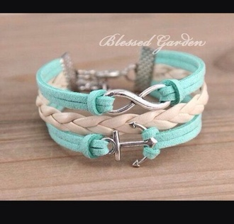 jewels bracelets anchor anchor bracelet infinity cute fashion style