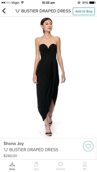 dress black asos draped flow