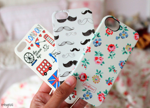 moustache jewels london phone case flowers