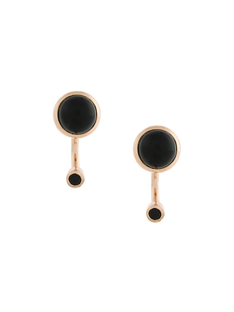 Pamela Love rose gold rose women earrings gold silver black grey metallic jewels