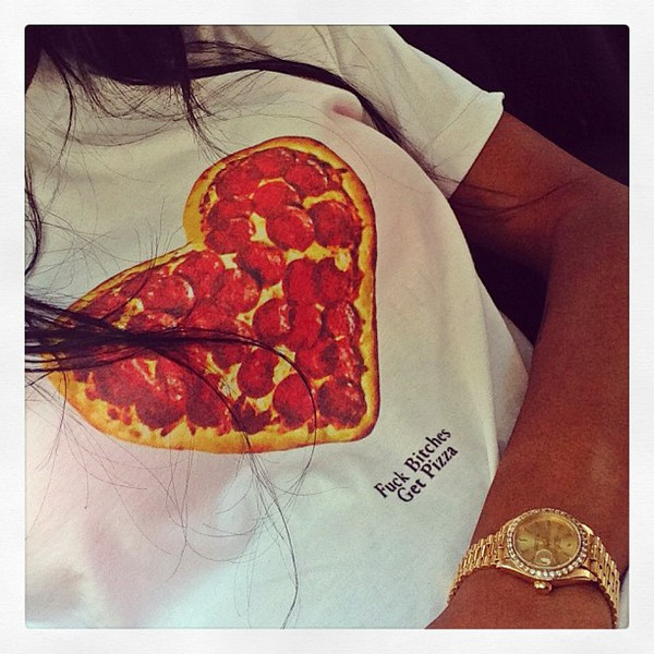 t-shirt teyana taylor pizza shirt