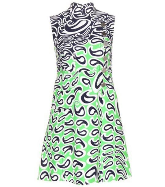 Miu Miu dress sleeveless dress sleeveless green