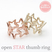 jewels,jewelry,ring,star ring,open star,open star ring,thumb ring,twinkle