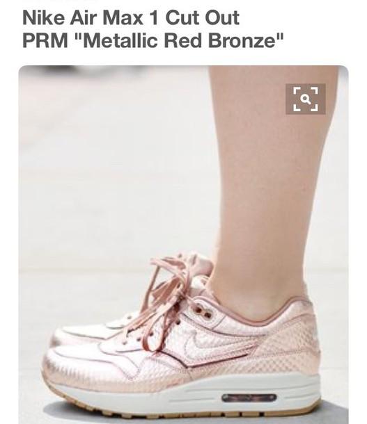shoes nike nike air max 1 metallic red bronze
