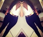 belt,gold,middle,waist,chique,pants,blouse
