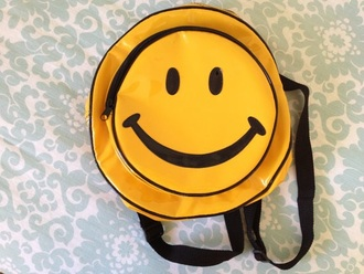 bag hello smile smiley yellow backpack