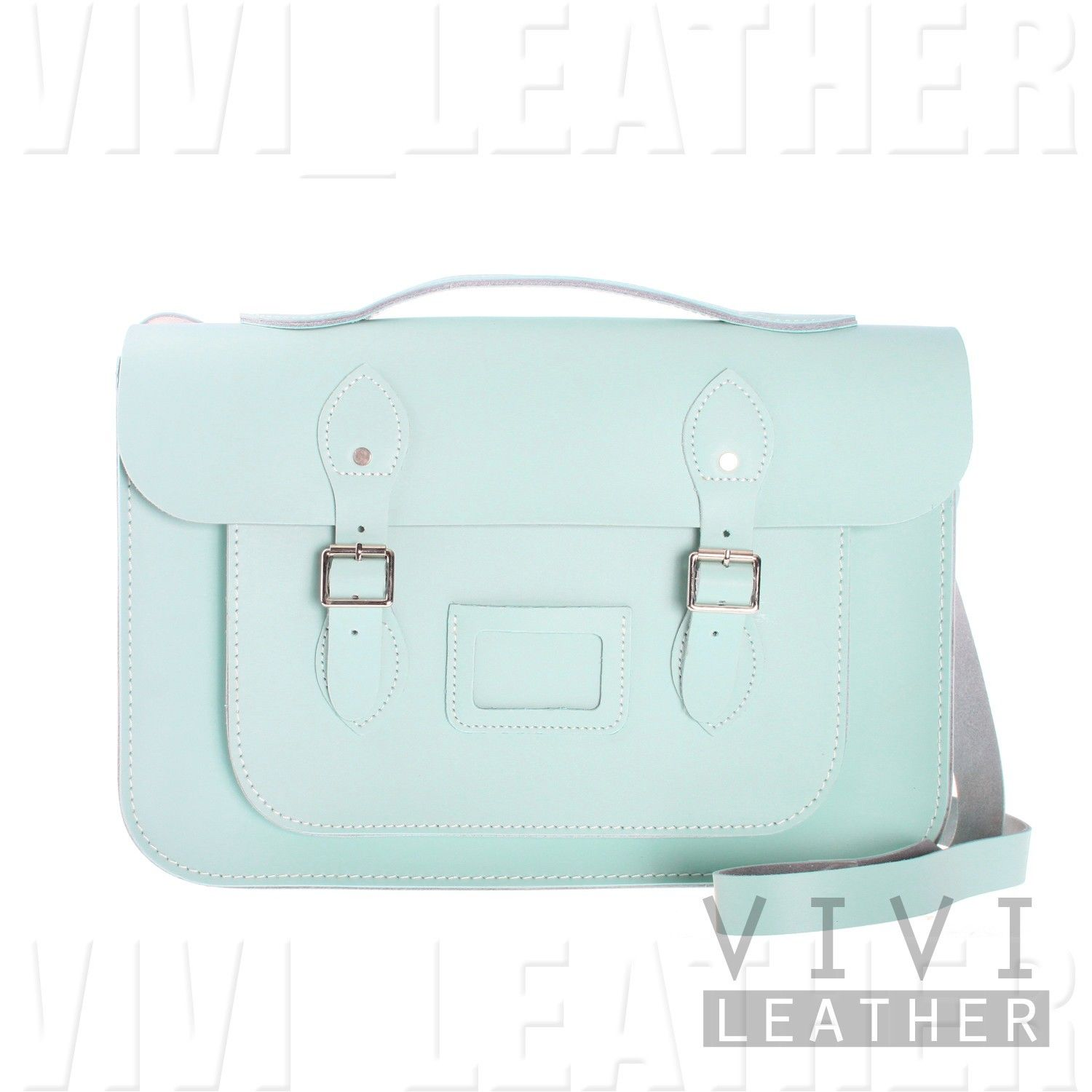 PASTEL Large Messenger School Work BRITISH REAL LEATHER VINTAGE ...