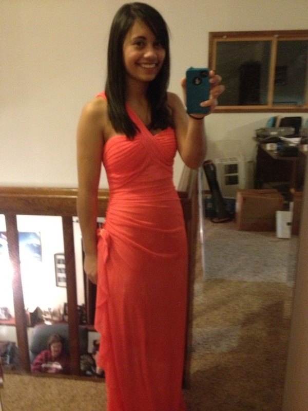 dress prom dress long prom dress coral dress formal dress clothes women's