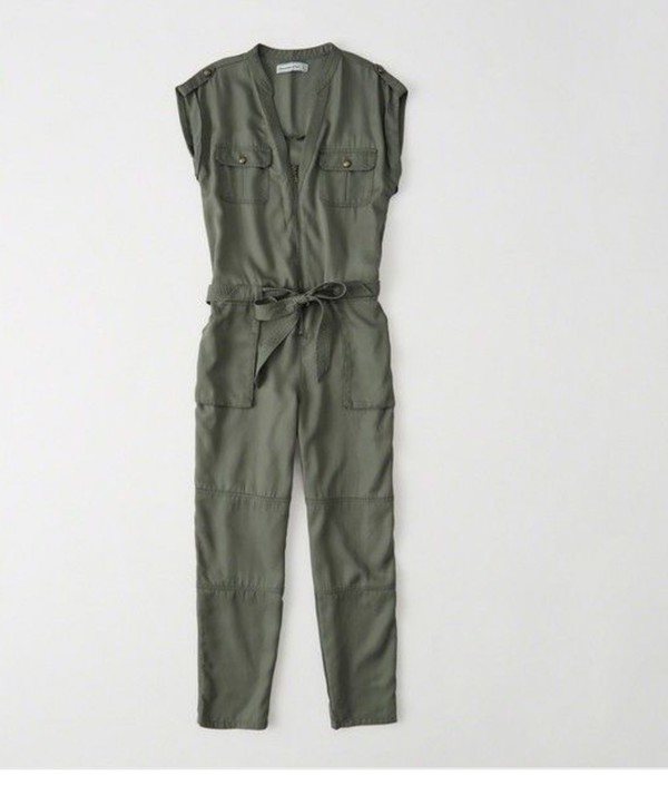 jumpsuit olive green