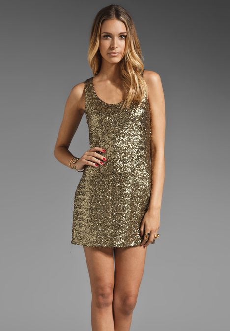 Style stalker goldfinger sequin dress in gold at revolve clothing