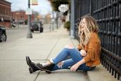 blonde bedhead,blogger,jacket,shoes,top,jeans,bag,sunglasses,fringed jacket,boots