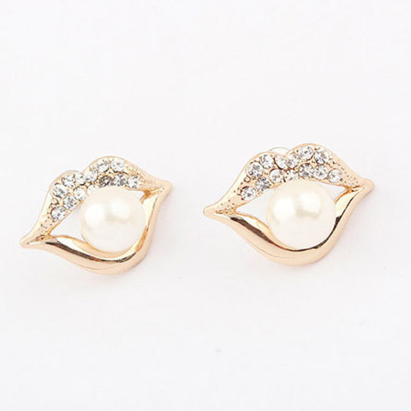 stud jewels earrings rhinestones
