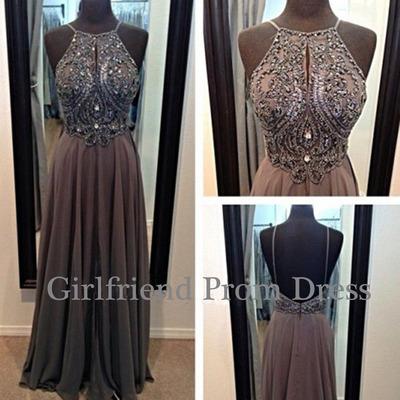 Line beaded chiffon prom dress, graduation dress, bridesmaid dress, evening dress, formal dress · girls prom dresses on storenvy
