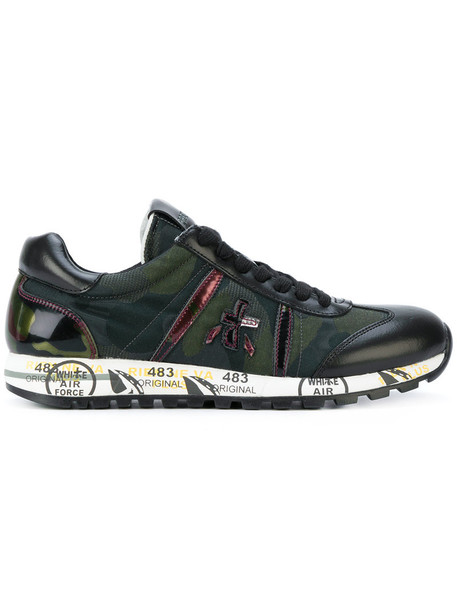 Premiata - Lucy sneakers - women - Calf Leather/Leather/Polyamide/rubber - 35, Black, Calf Leather/Leather/Polyamide/rubber