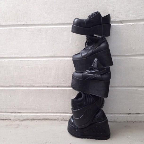 shoes, platform shoes, high platforms