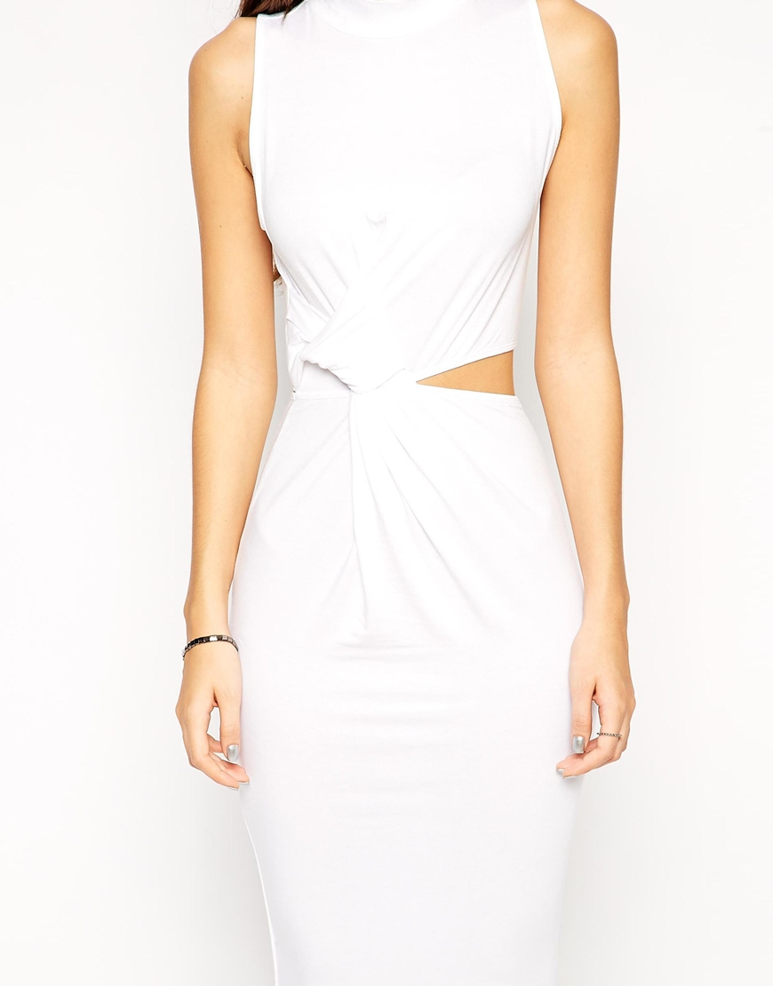 ASOS PETITE Exclusive Twist Cut Out Side Bodycon Dress at asos.com