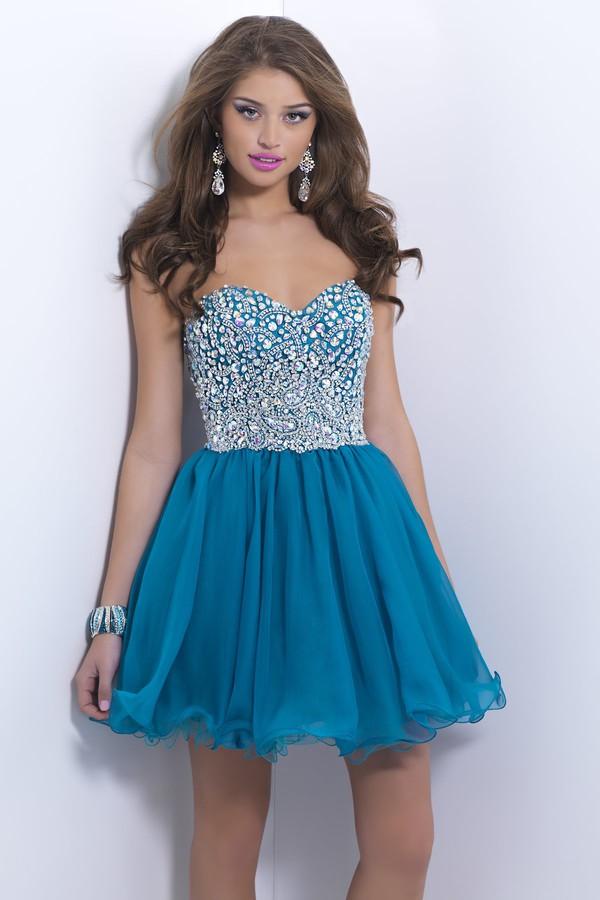 blue dress cocktail dress homecoming dress 2014 party dress 2014 cheap mini dress