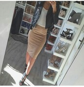 jacket,outfit,outfit idea,fall outfits,summer outfits,winter outfits,cute outfits,date outfit,spring outfits,party outfits,office outfits,clothes,trendy,clubwear,fashion,streetstyle,streetwear,style,stylish,skirt,cute skirt,pencil skirt,high waisted skirt,top,white top,summer top,cute top,blouse,white blouse,leather jacket,black jacket,biker jacket,black leather jacket,spring jacket,winter jacket,long sleeves,shoes,black shoes,sexy shoes,party shoes,lace-up shoes,heels,high heels,black heels,cute high heels,lace up heels,black high heels,peep toe heels,peep toe pumps,peep toe,pumps,high heel pumps