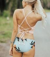 swimwear,girly,girl,girly wishlist,stripes,bikini,bikini bottoms,bikini top,floral