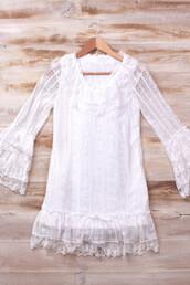 dress,70s style,bohemian,boho,bell sleeves