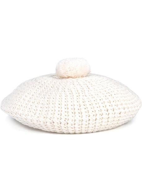gucci women hat beret white cotton