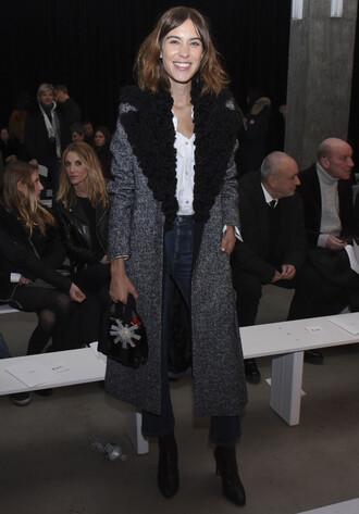 coat alexa chung fashion fashion week 2015