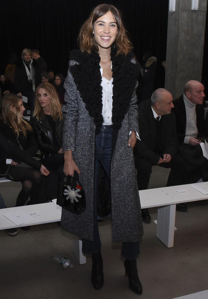 coat alexa chung fashion fashion week 2015