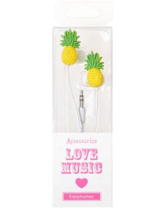 Pineapple Earphones | Yellow | Monsoon