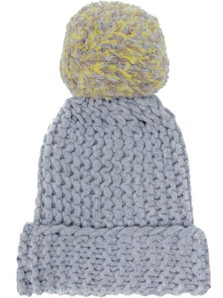 bobble hat hat knit grey