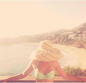 swimwear bikini gingham lauren conrad celebrity style mint instagram