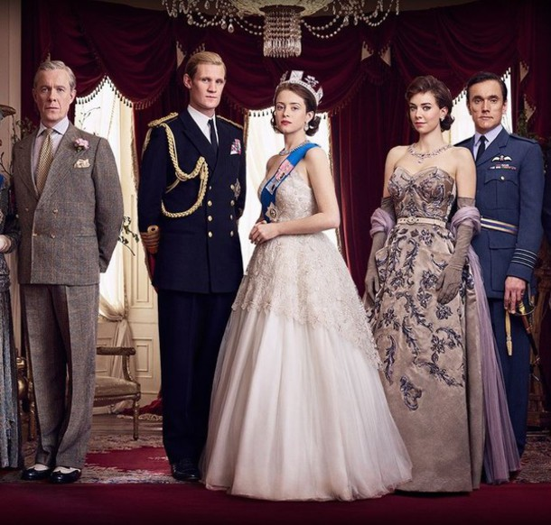 Dress: gown, prom dress, wedding dress, claire foy, the crown ...