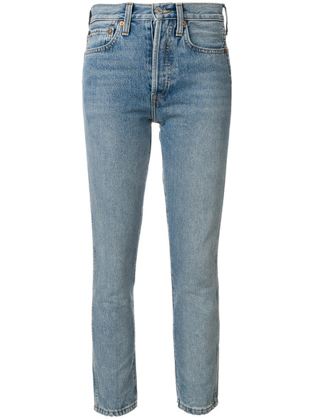 Re/Done jeans skinny jeans cropped women cotton blue
