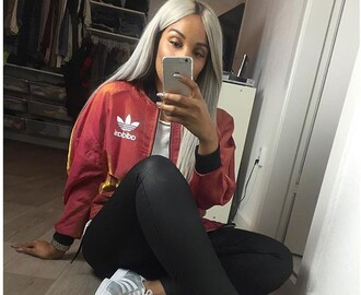 jacket adidas red white yellow 90s style style cute fashion adidas shoes adidas jacket old school adidas superstars adidas originals