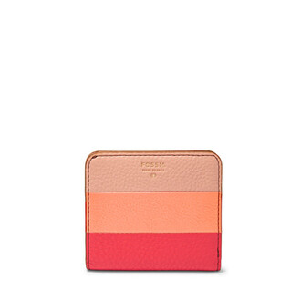 bag wallet leather pink coral