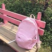 bag,pastel pink,backpack,baby pink,pastel bag,pale aesthetic
