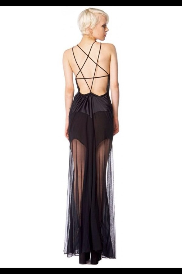 dress black maxi dress lace dress star dress long prom dress goth hipster hipster punk punk