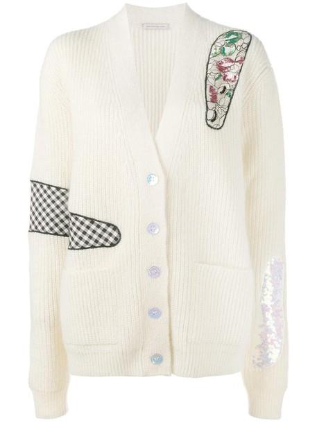 CHRISTOPHER KANE cardigan cardigan oversized women plastic cotton silk nude sweater