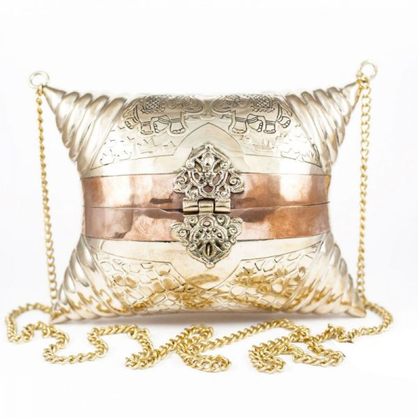 bolso de laton labrado dorado y cobre online