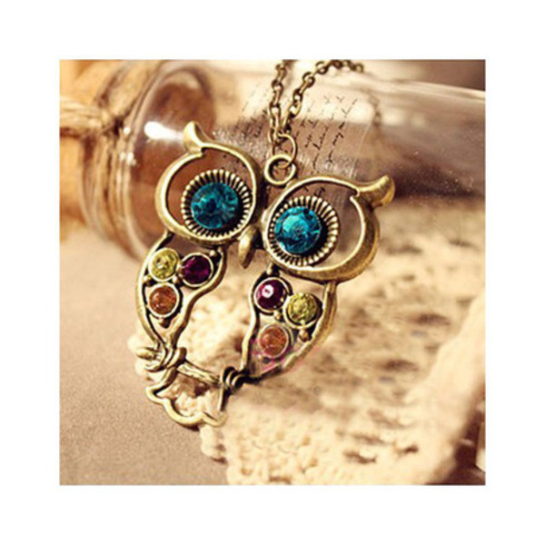 jewels owl necklace pretty