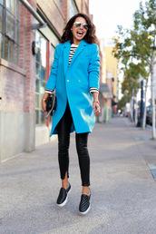 viva luxury,blogger,bag,jewels,coat,blue,quilted,vans,black,flats