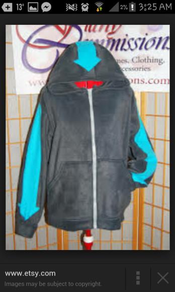 arrow jacket avatar the last airbender legend of korra aang blue arrow airbender jacket airbender tattoos