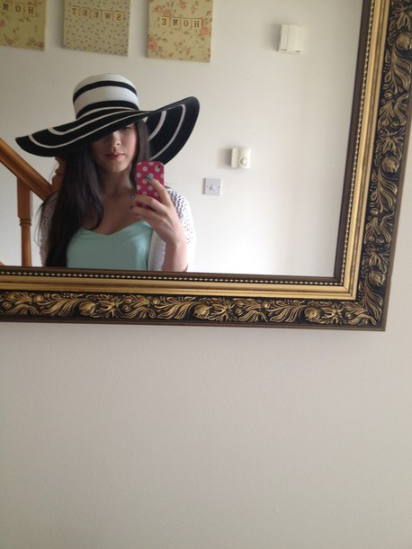 hat macys stripes summer hat holidays straw hat