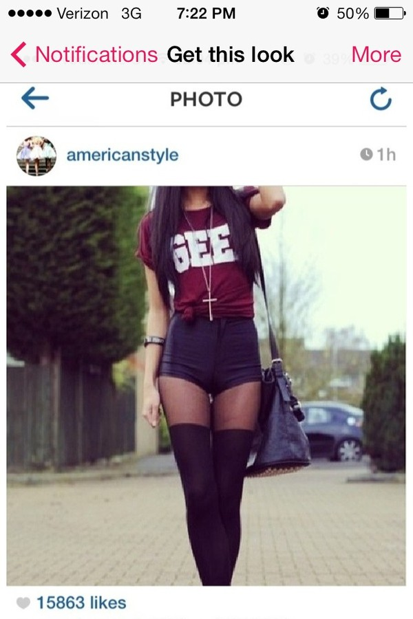 shirt gee shorts High waisted shorts blouse bag shoes jewels underwear