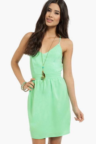 X Back Skater Dress ~ TOBI