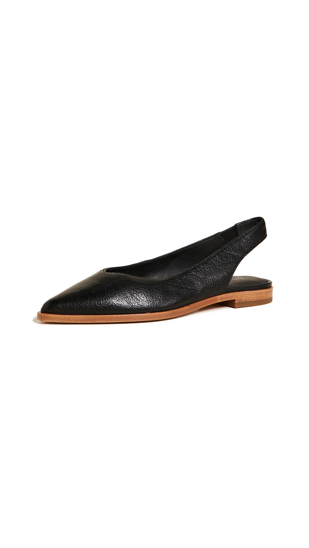 Frye Kenzie Slingback Flats in black