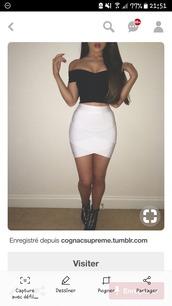 dress,jupe blanche